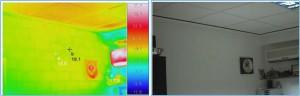 Imagen termográfica de una oficina