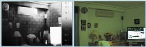 Imagen termográfica de una sala